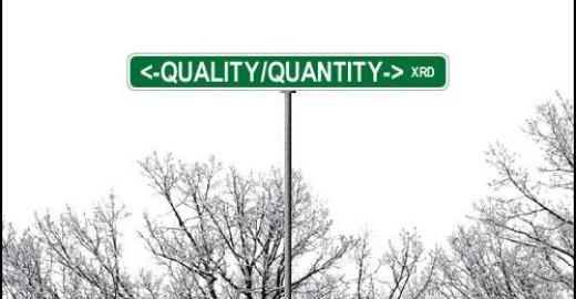Quality vs Quantity Developing Money ideas