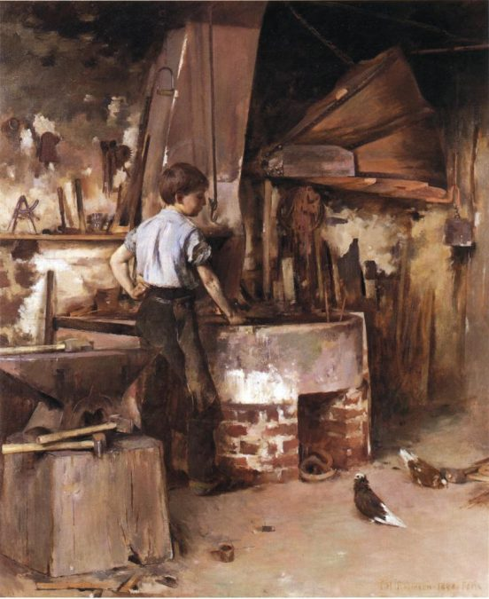 Apprenticeship - Earning While Learning - Credit: Theodore Robinson The Apprentice Blacksmith